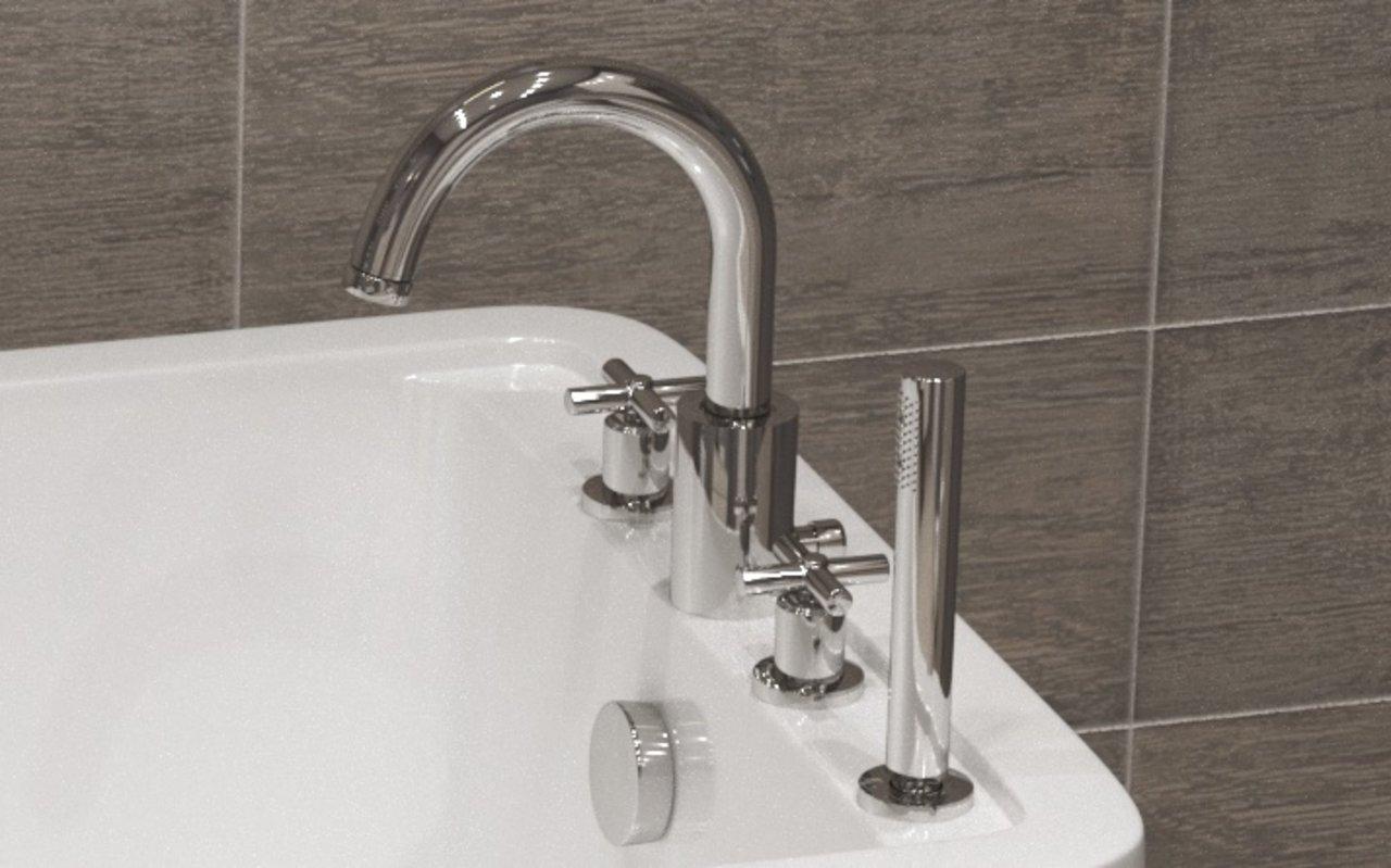 Aquatica Celine 4-Hole Deck Mounted Bath Filler (SKU-126) – Chrome
