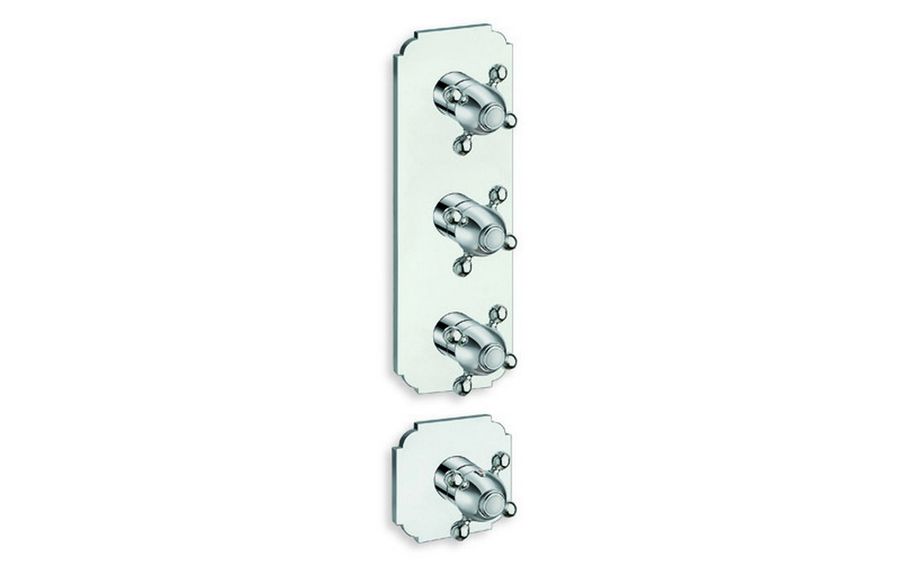 Aquatica Retro 783 High Throughput Thermostatic Valve with 3 independent volume control valves web
