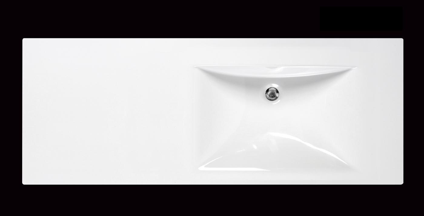 Aquatica Bravado C Wht EcoMarmor Sink Left