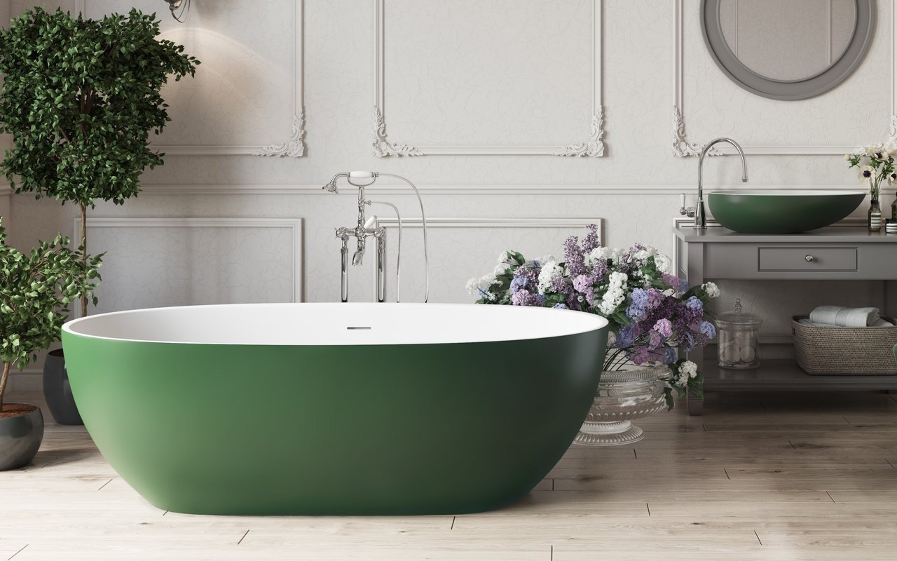 Aquatica Corelia Moss Green Wht Freestanding Solid Surface Bathtub 01 (web)