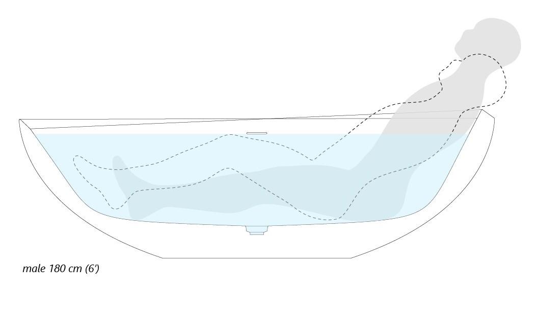 Aquatica Illusion Freestanding Solid Surface Bathtub Ergonomic Scheme03