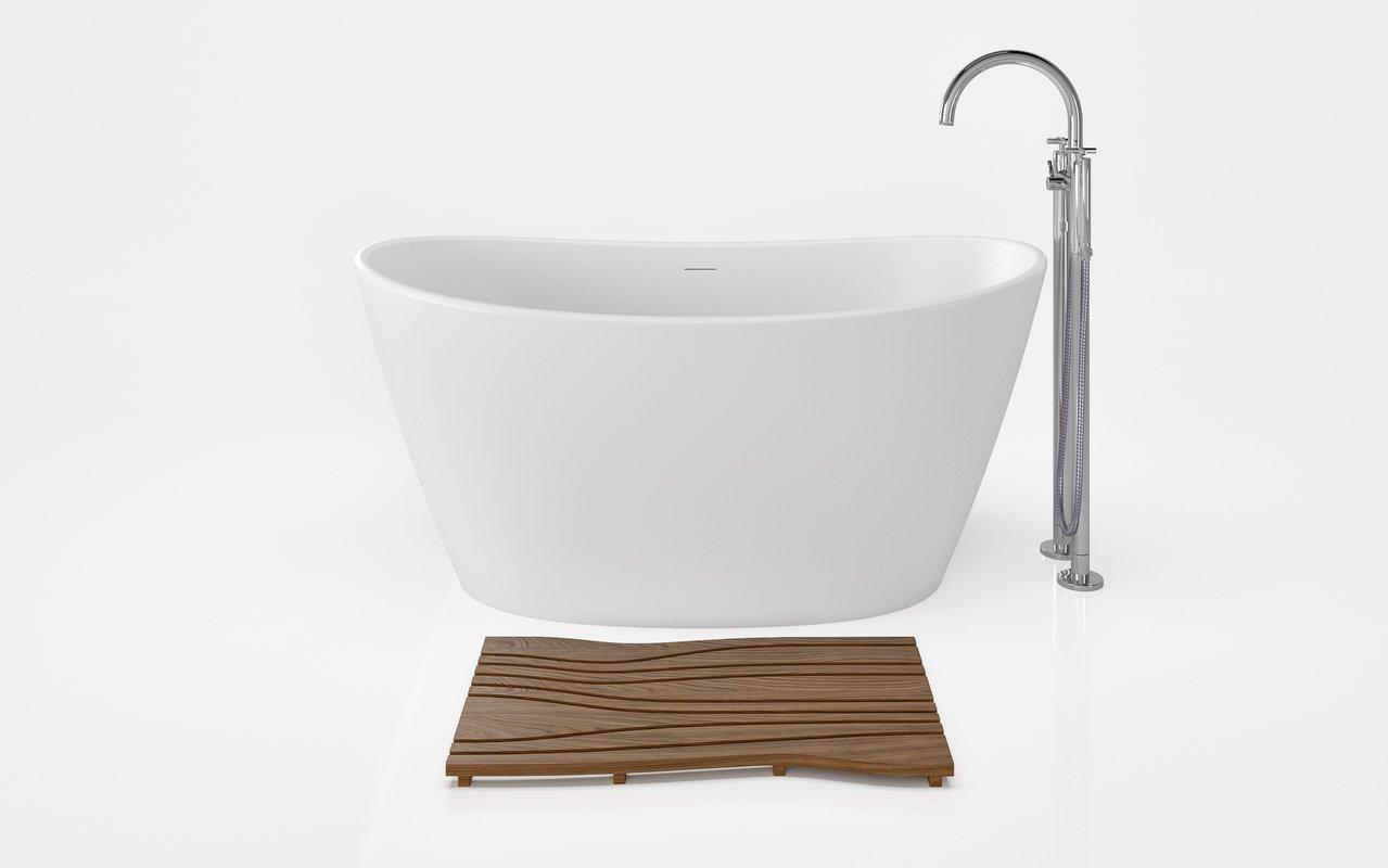 Aquatica Onde Waterproof Teak Wood Floor Mat 01 (web)