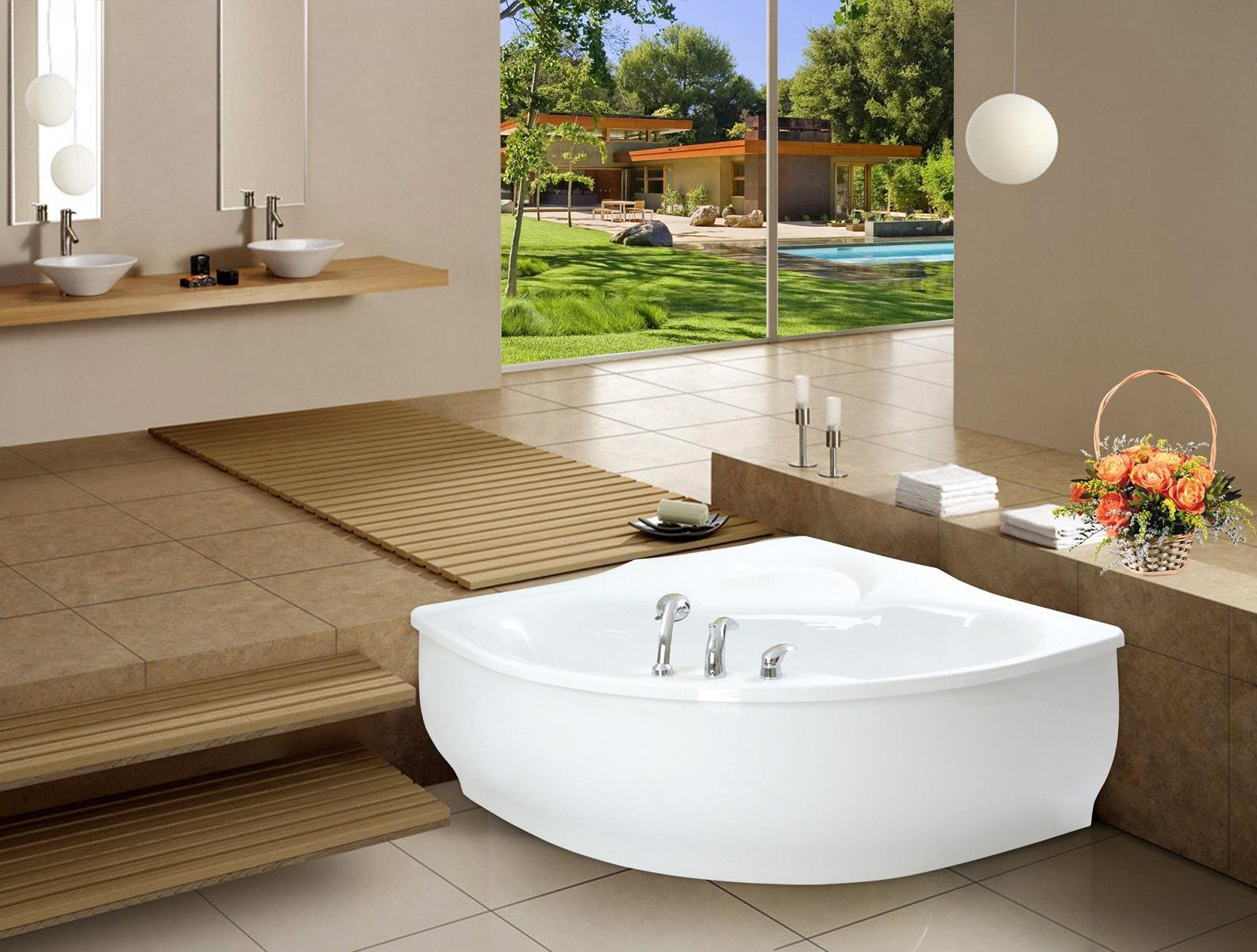 aquatica purescape 314 small corner acrylic bathtub