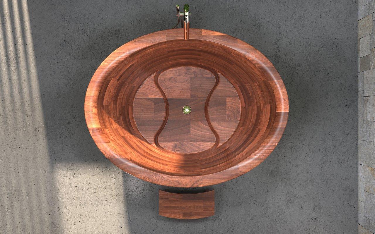 Aquatica True Ofuro Duo Wooden Freestanding Japanese Soaking Bathtub 03 (web)