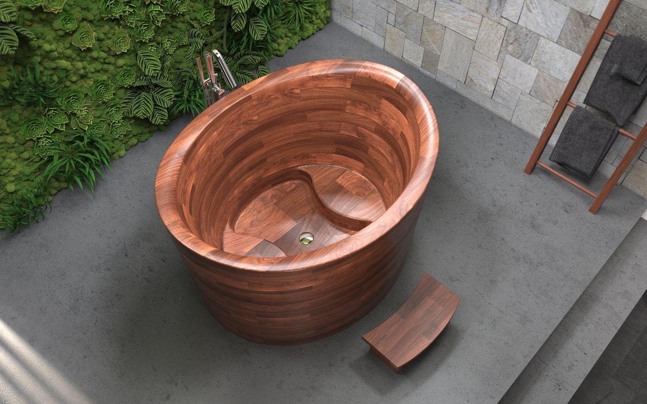 Aquatica True Ofuro Duo Wooden Freestanding Japanese Soaking Bathtub 04 (web)