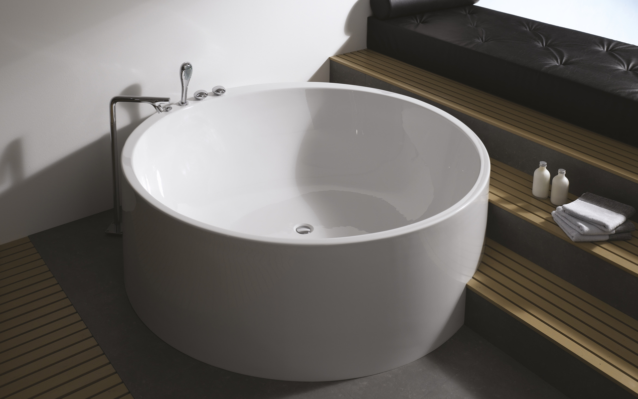 ... Circular Shape Of Our Imagination Freestanding Bathtub. This Tub Is  Designed For Both One Or Two Person Bathing, And It Is Extra Deep, ...
