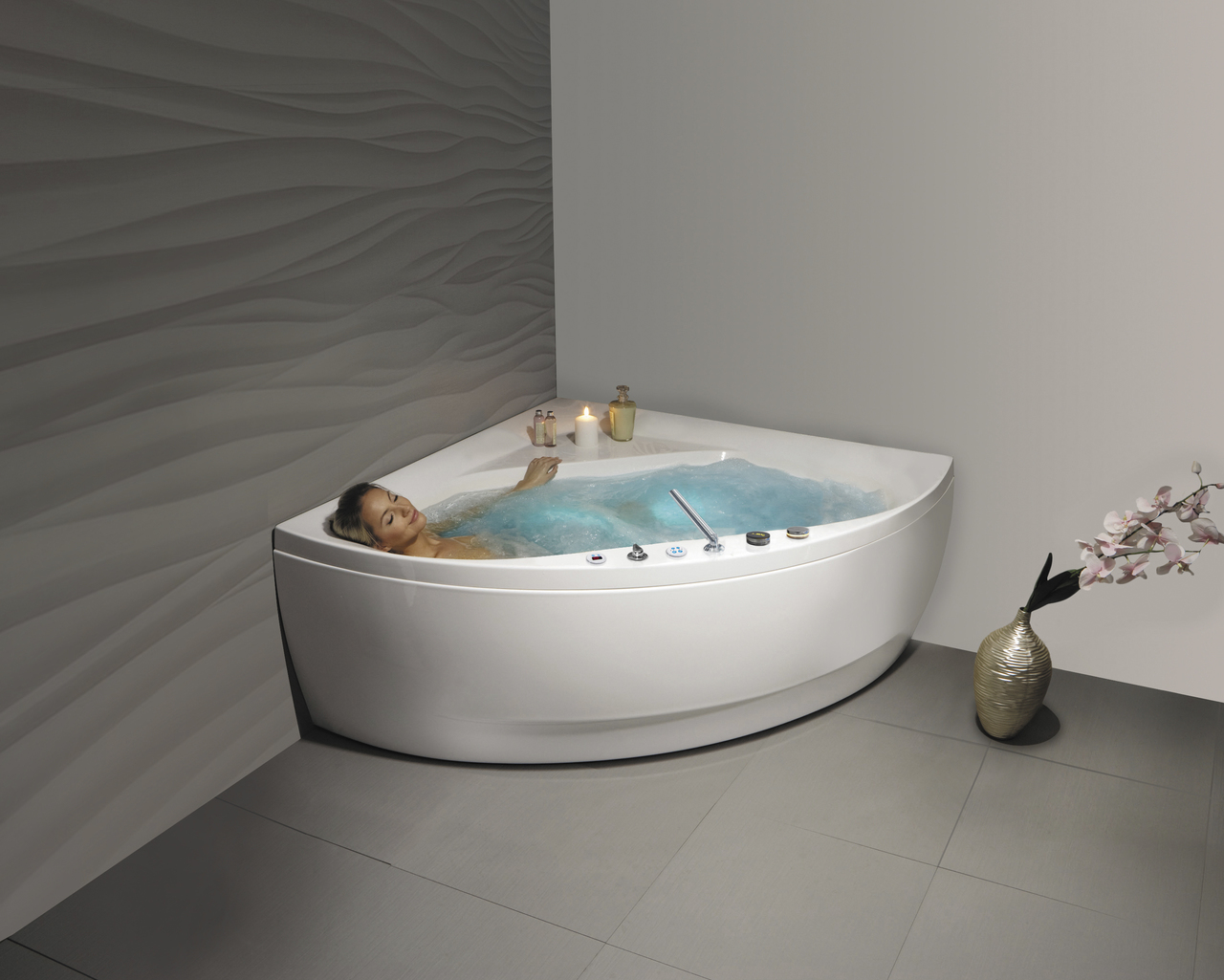 Aquatica Olivia-Wht HydroRelax Jetted Bathtub (US version 110V/60Hz)