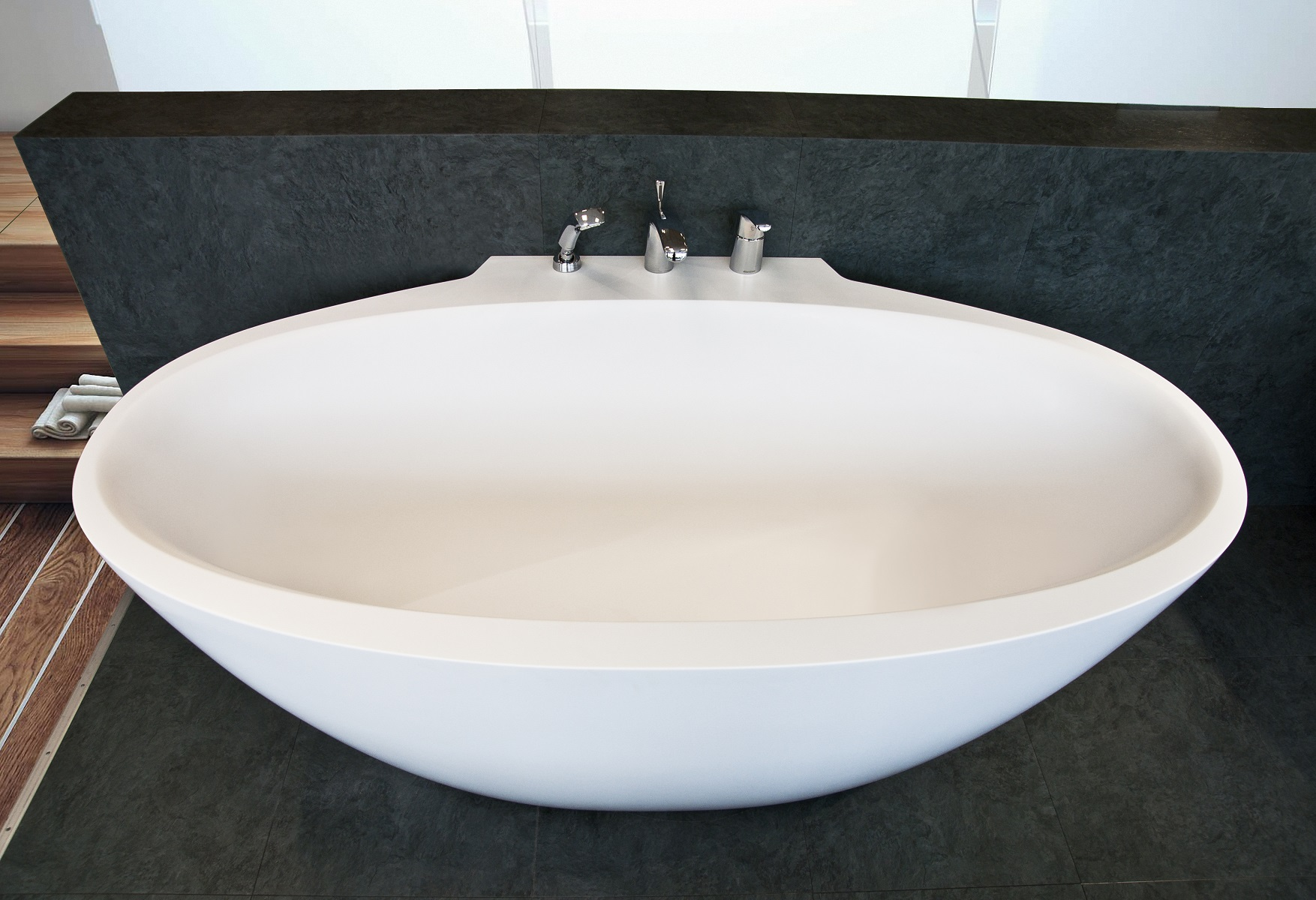 Aquatica sensuality mini wall back to wall solid surface bathtub - Vasche da bagno mini ...