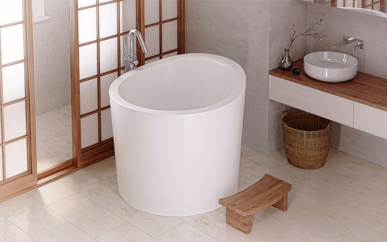 Aquatica True Ofuro Mini Tranquility Heated Japanese Bathtub (220 ...