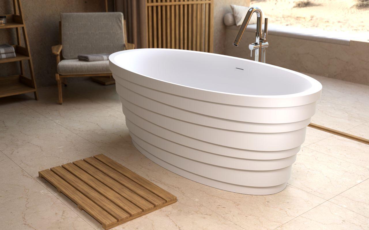 Aquatica Dune Freestanding Solid Surface Bathtub06