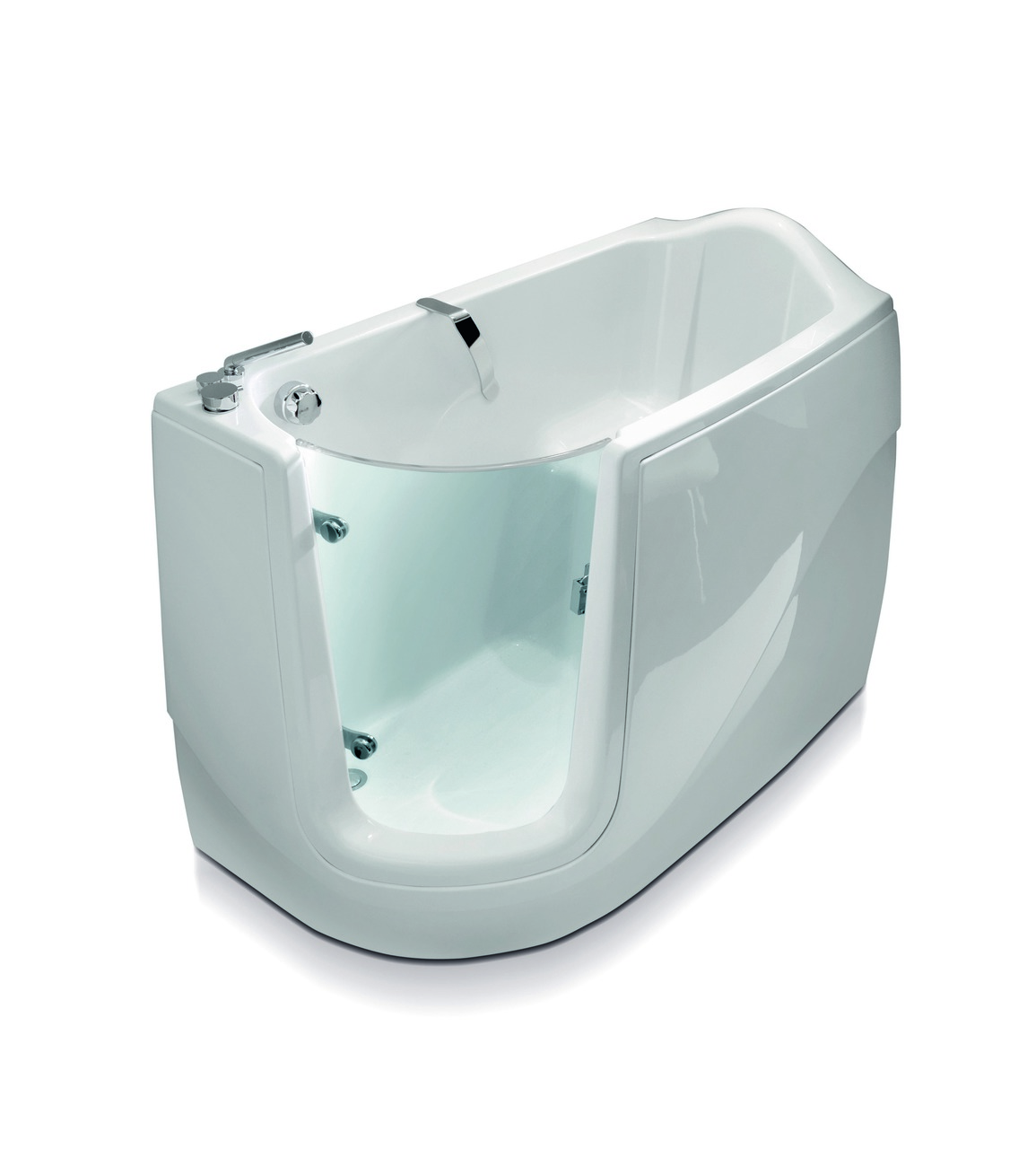 Aquatica Baby-Boomer-L™ Corner Soaking Walk-In Bathtub