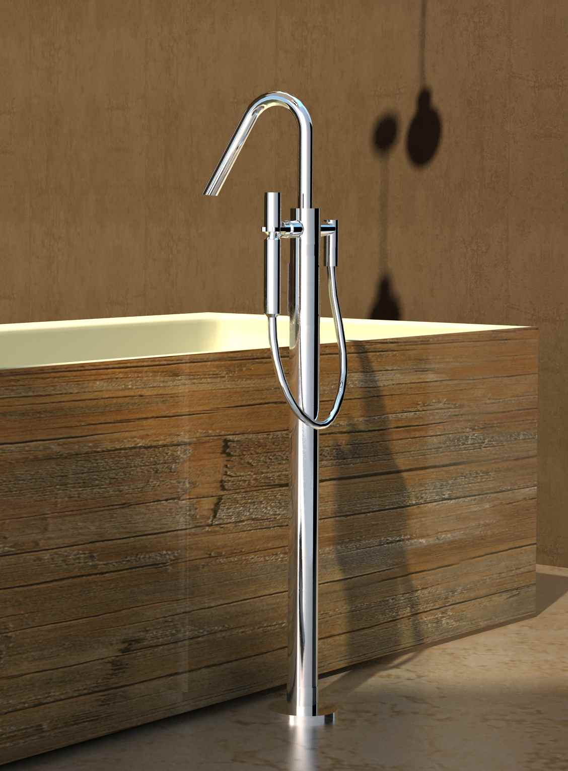Aquatica Caesar Faucet Floor Mounted Tub Filler Bronze  U003e Source. Aquatica  ...