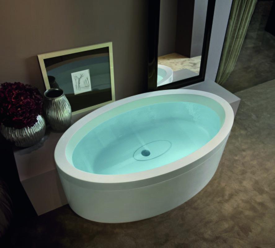 Aquatica Dream Ovatus Basic Outdoor/Indoor Acrylic Bathtub