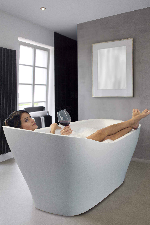 Aquatica Emmanuelle Wht Freestanding AquaStone Bathtub