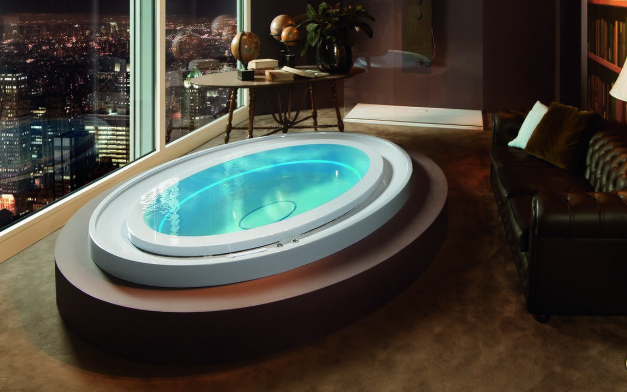 Luxury Infinity Hot Tub with Hydro-massage | Fusion Ovatus Spa
