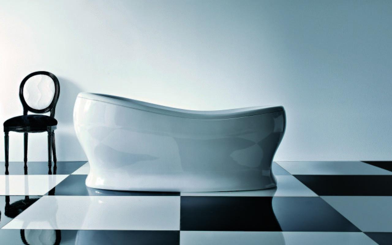 Aquatica Impero-Wht Freestanding Acrylic Bathtub