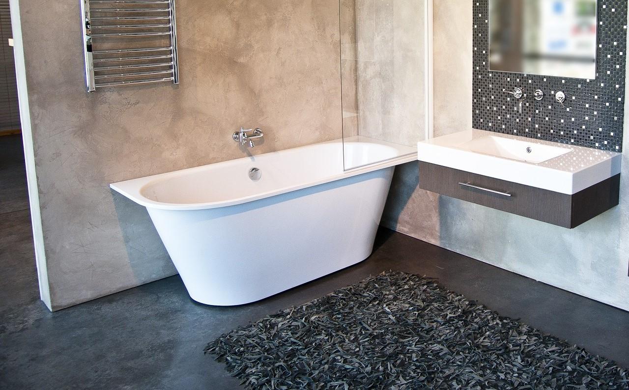 Aquatica Inflection™ B-L-Wht Large Corner Cast Stone Bathtub