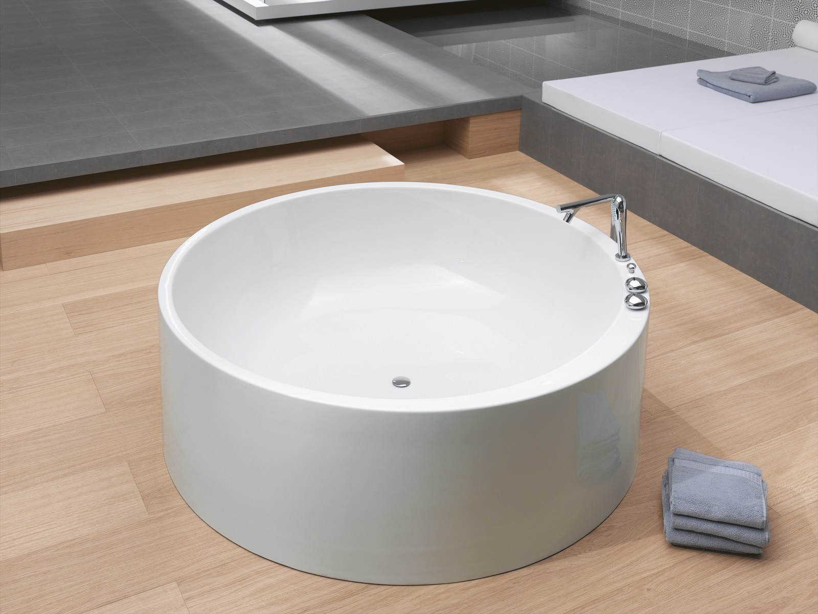 Extra Deep Bathroom Sink -  strikingly organic circular shape of our imagination freestanding bath this tub is designed for both one or two person bathing and it is extra deep