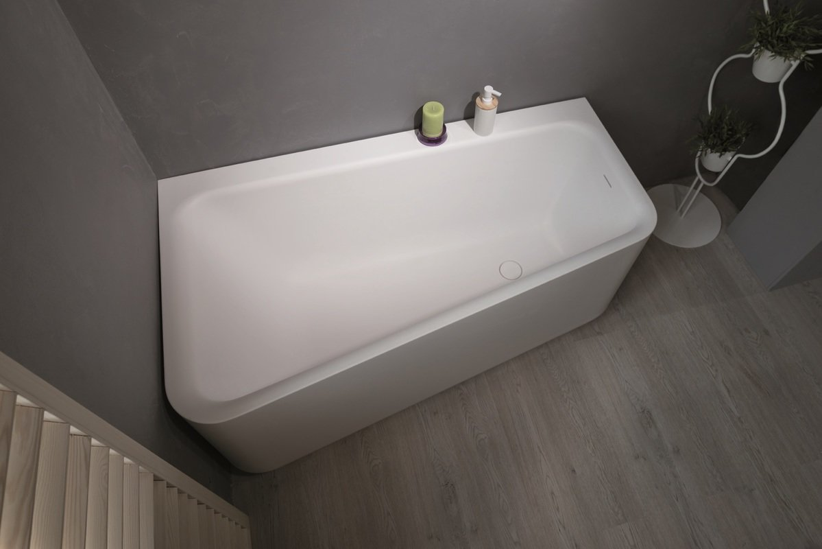 Aquatica Jane-Wht™ Solid Surface Corner Bathtub