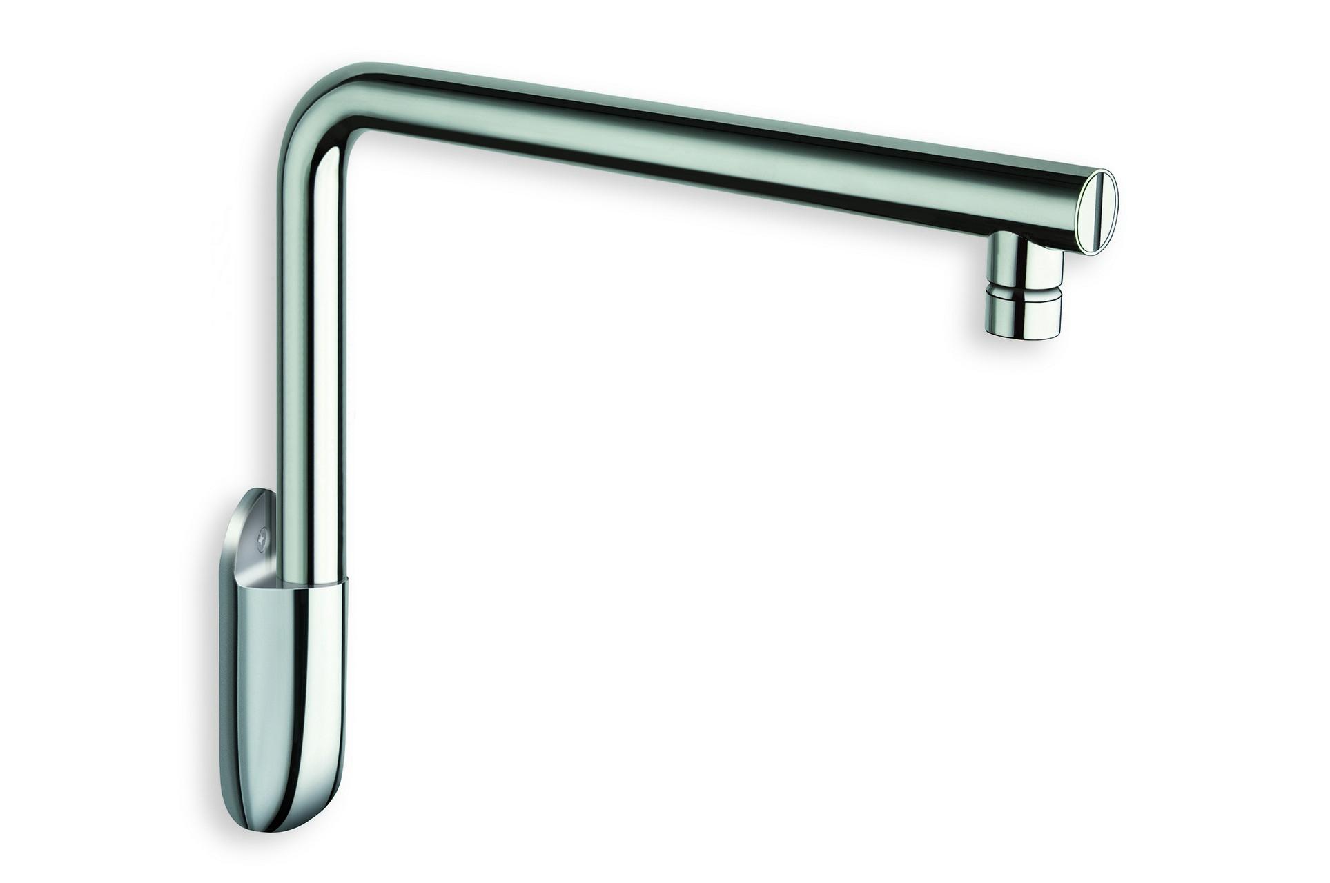 aquatica short wall mounted shower arm chrome. Black Bedroom Furniture Sets. Home Design Ideas