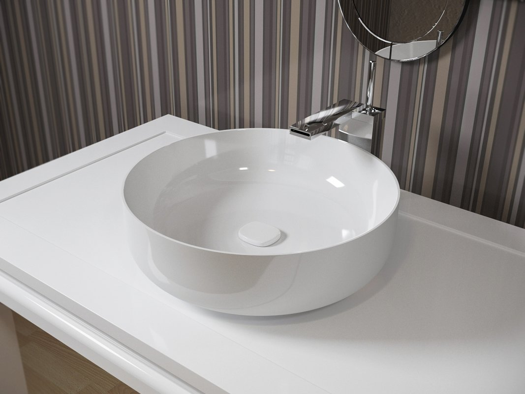 With Aquaticau0027s Brand New White Round Ceramic Bathroom Vessel Sinks, You  Can Now Completely Revamp Your Bathroom Into A Contemporary And Chic Haven!