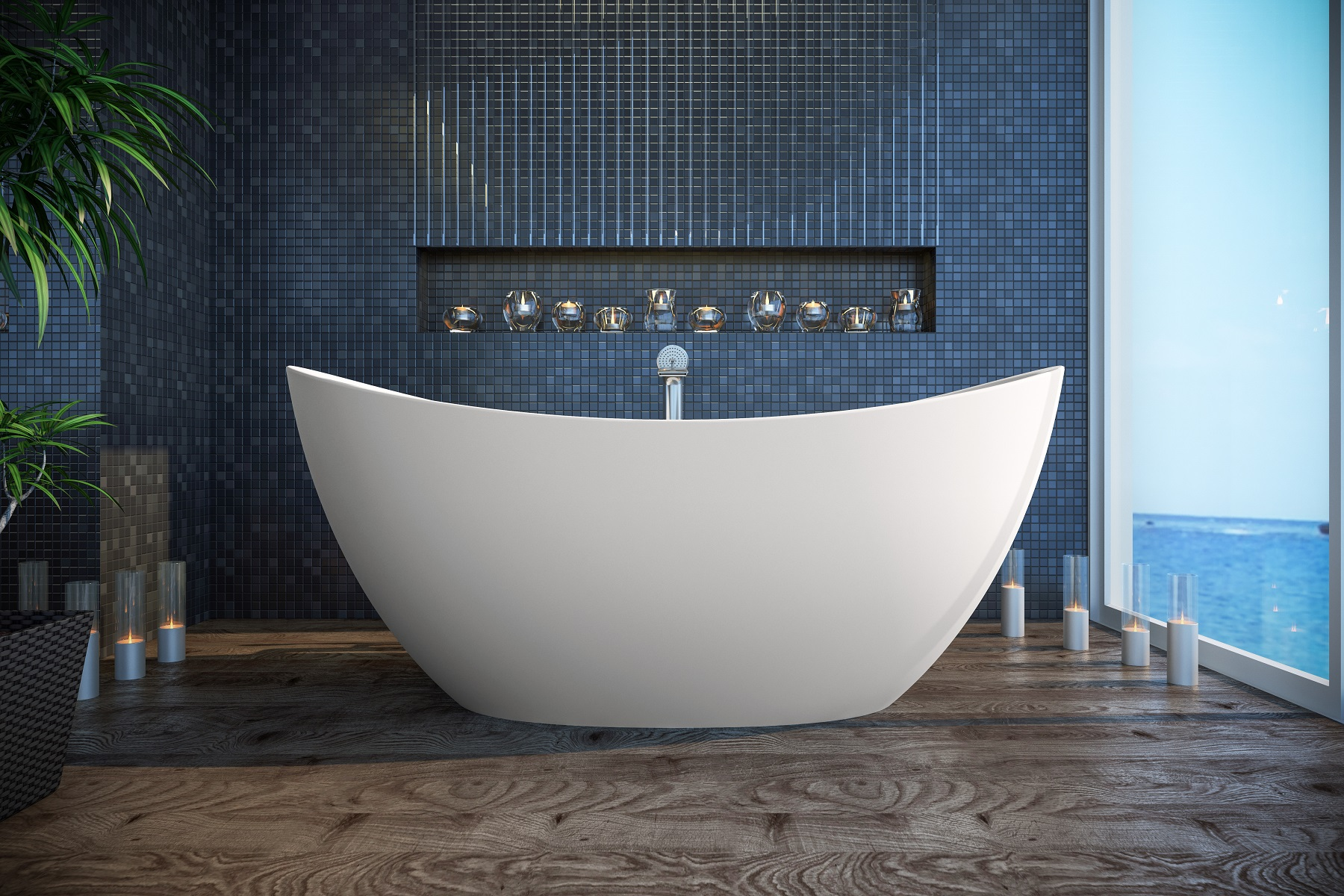 Aquatica Purescape 171 Freestanding Solid Surface Bathtub