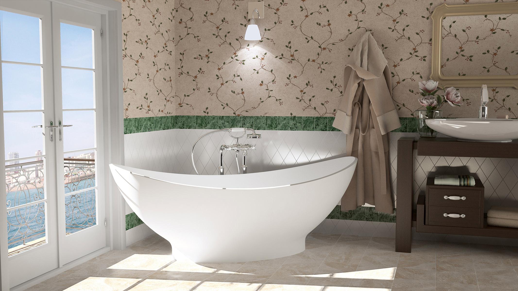 aquatica purescape 621g freestanding cast stone solid. Black Bedroom Furniture Sets. Home Design Ideas