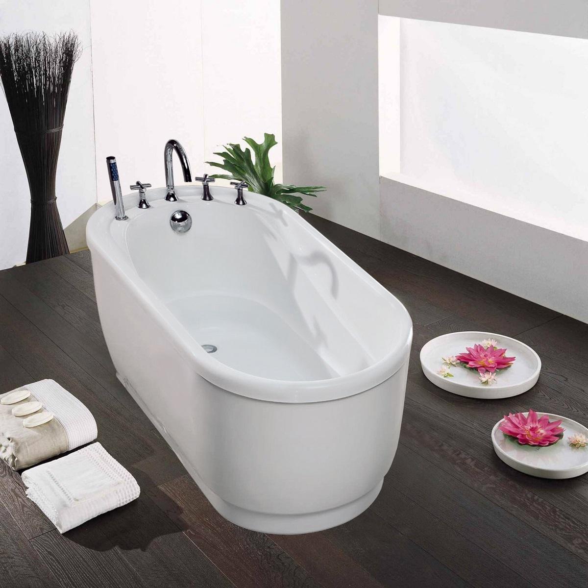 60 inch freestanding tub canada.  Aquatica PureScape 028B Freestanding Acrylic Bathtub
