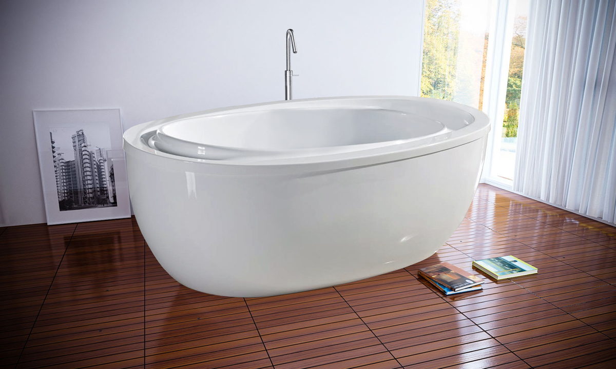The Purescape 316 Oval Freestanding Bathtub Has Been Crafted With An  Infinity Style Shape. A Very Individual Bathtub Where The Designers Have  Cleverly ...