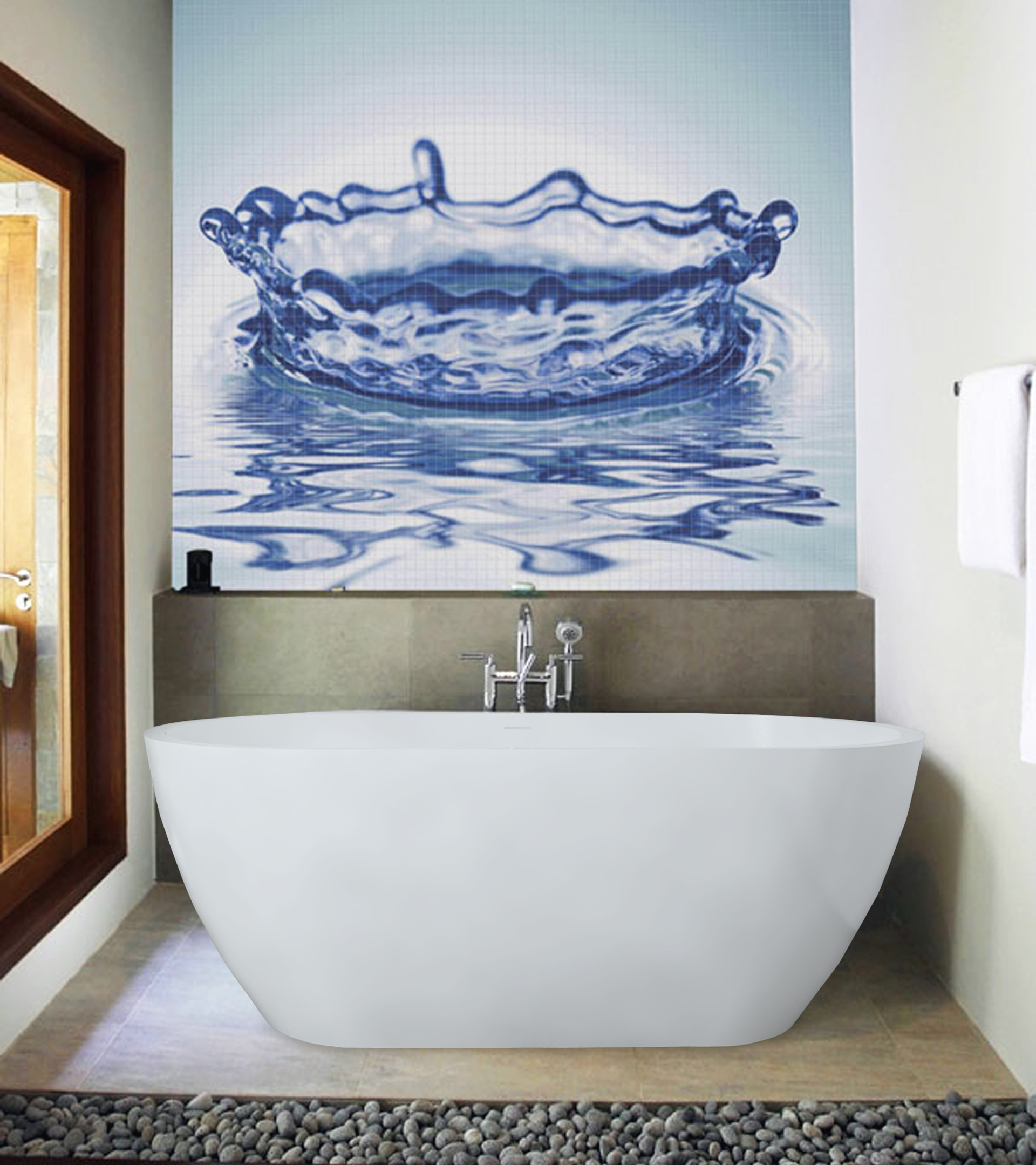 Aquatica PureScape 617B-M Freestanding AquaStone™ Bathtub