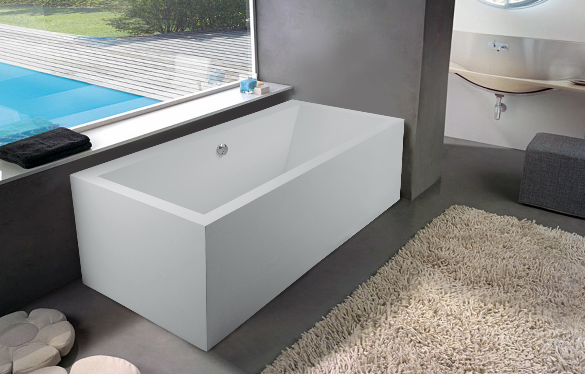 Aquatica PureScape 714M Freestanding AquaStone Bathtub