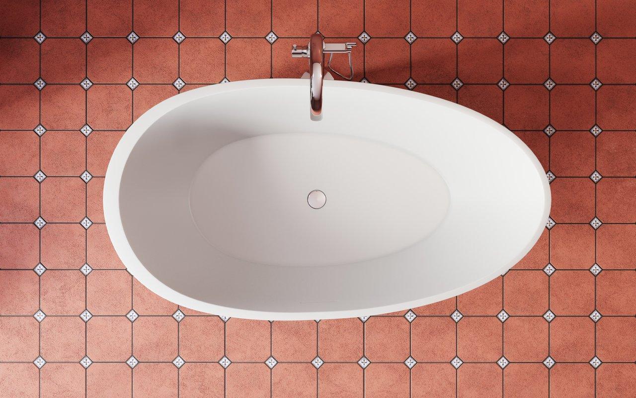 Spoon 2 RAL3009 Freestanding Egg Shaped Solid Surface Bathtub 3 (web)