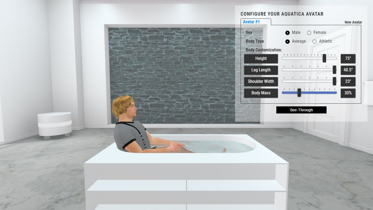 Storage Lovers Bathtub 3D Body Position