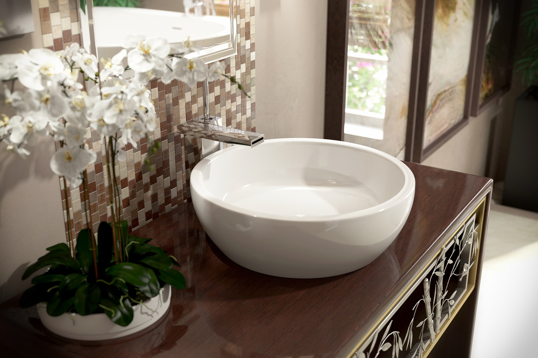 bathroom vessel sinks.  Aquatica Texture Bowl Wht Round Ceramic Bathroom Vessel Sink