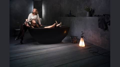 Aquatica Karolina Graphite Black Solid Surface Bathtub