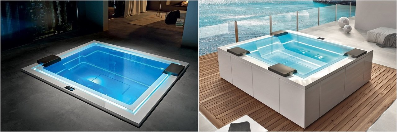 Aquatica hot tubs - A the choice between freestanding and built-in option