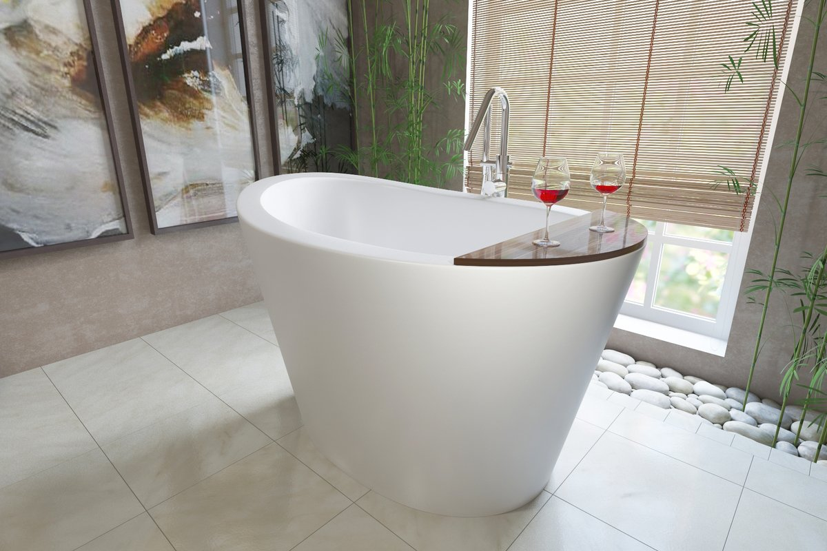 Aquatica TrueOfuro Freestanding Stone Bathtub (1 1). Besides the fact that  this small freestanding soaking tub ...