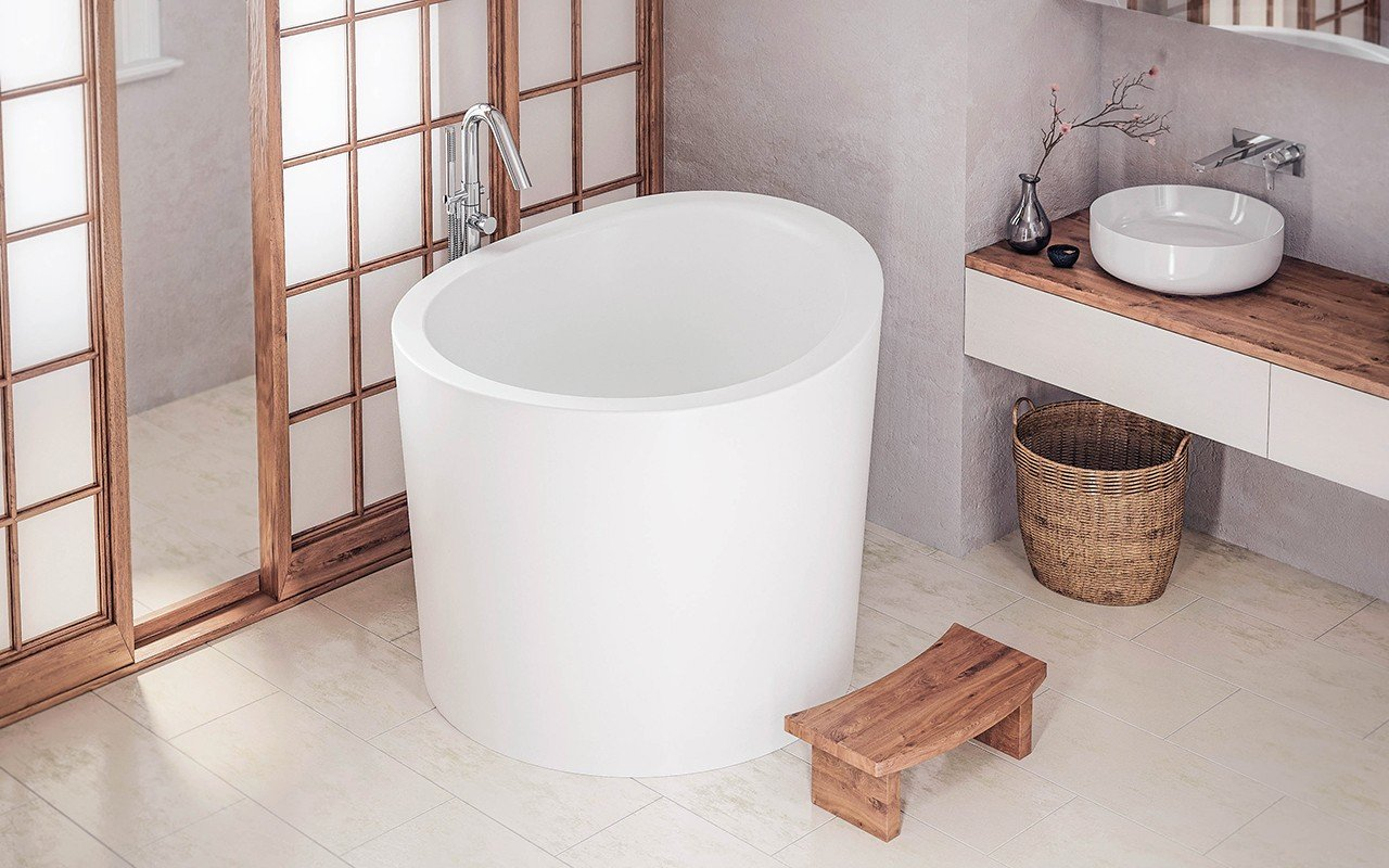 Aquatica True Ofuro Mini Freestanding Stone Anese Soaking Bathtub