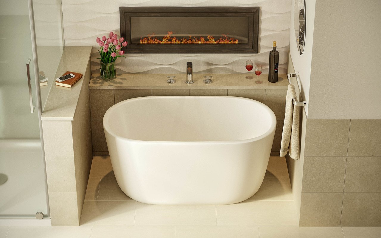 Lullaby Nano Wht Small Freestanding Solid Surface Bathtub by Aquatica (2)
