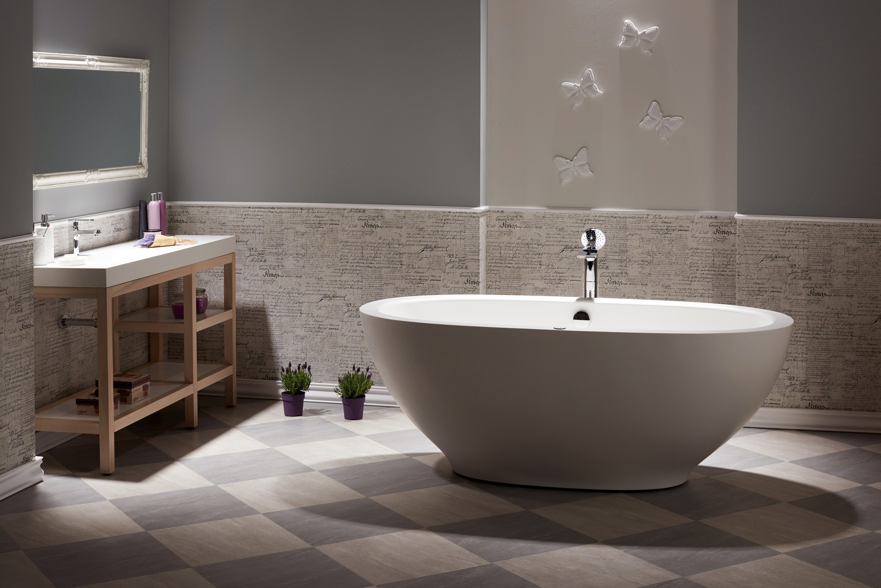 The very first freestanding stone jetted bathtub for Freestanding tub vs built in
