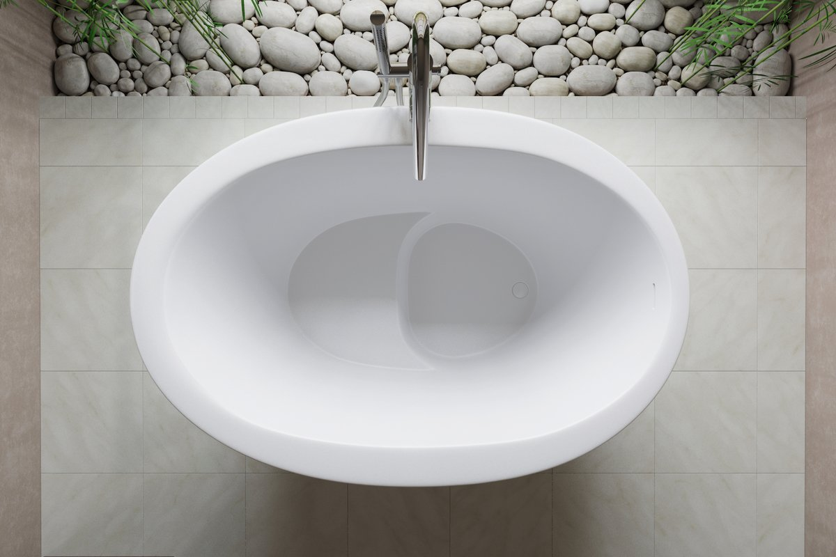 Six small freestanding baths for petite bathrooms for Soaking bathtub sizes