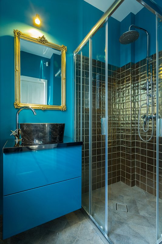 bigstock Blue Fashionable Bathroom 93765926