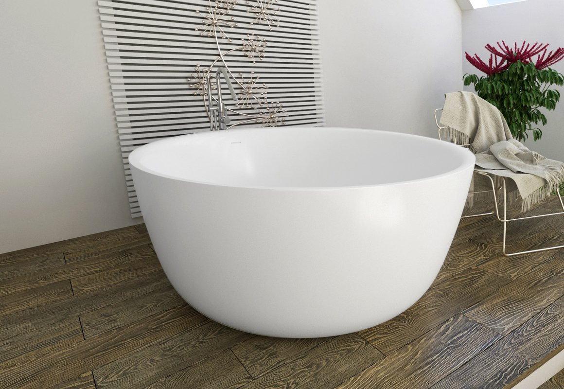 Small Freestanding Solid Surface Bathtub  6 Six Small Freestanding Baths for Petite Bathrooms. Small Freestanding Soaking Tub. Home Design Ideas